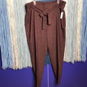 Wine Tie Waist Trousers